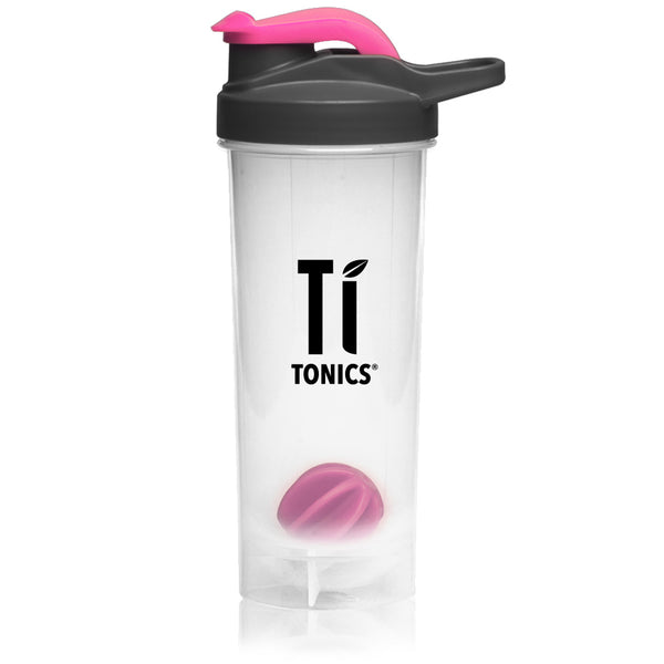 Ti Tonics Black/Pink Shaker Bottle 24oz