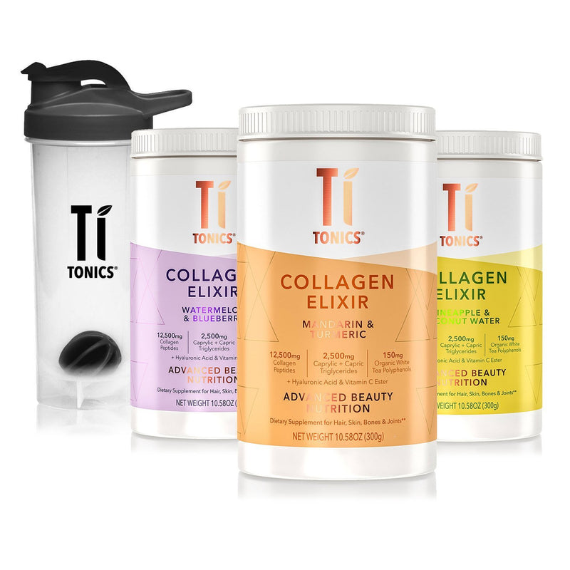 Ti Tonics® Collagen, White Tea Elixir - Multipack