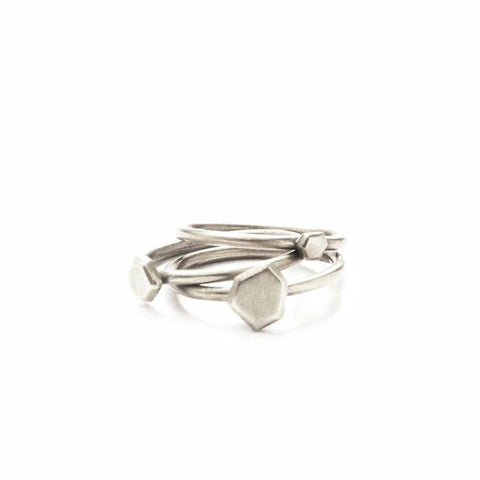 Stacking Stone Ring Set