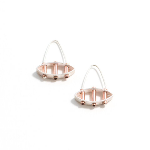 Three Tube Structure Earrings