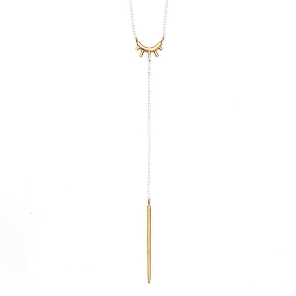 Small Burst Lariat Necklace
