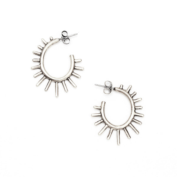 Burst Post Hoop Earrings