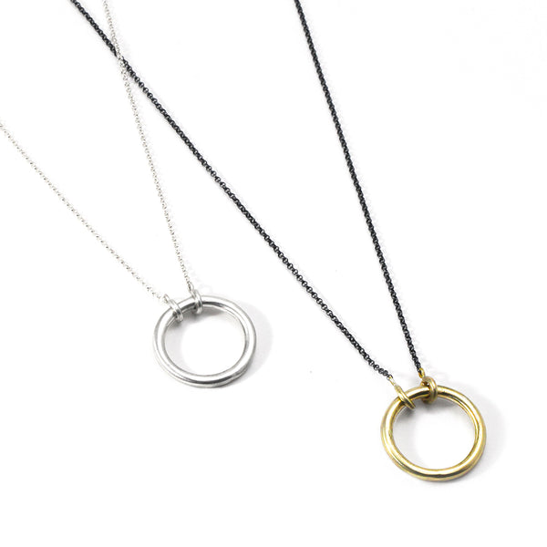 Industrial Ring Necklace