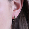 Tiny Crescent Hugger Earrings