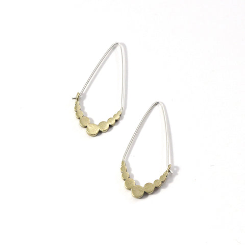 Tiny Dot Drop Hoop Earrings