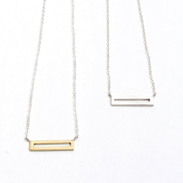 Simple Link Bar Necklace