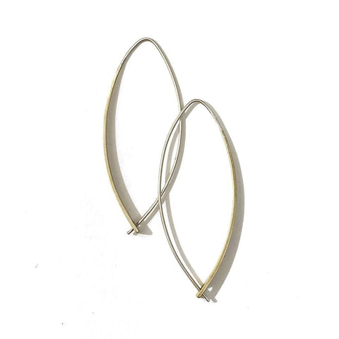 Long Passthrough Hoop Earring