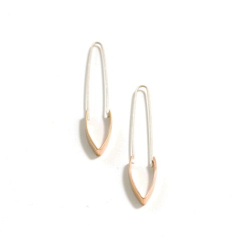 Long Peak Drop Earrings