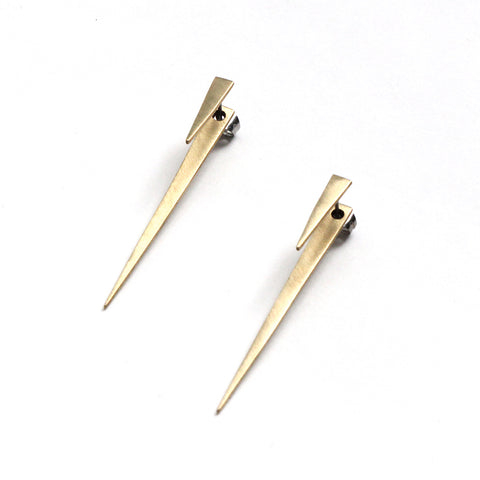 Sharp Spike Earring Jacket Set