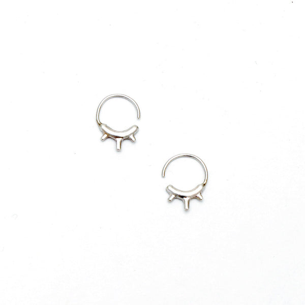 Tiny Burst Hugger Hoop Earrings