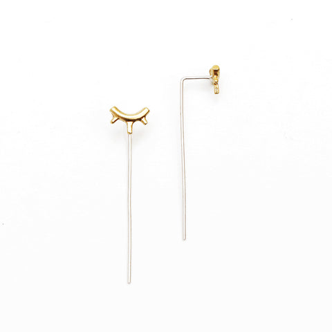 Tiny Burst Threader Earring