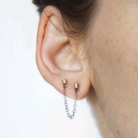 Double Pierced Industrial- Single Set