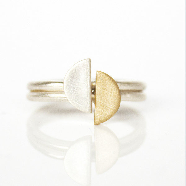 Stacking Crescent Ring Set