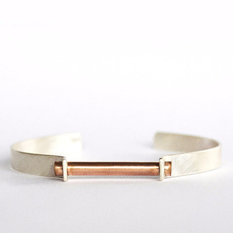 Clamp Cuff Bracelet- Mixed Metal