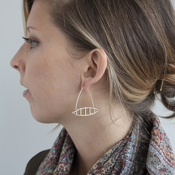 Five Tube Structure Earrings