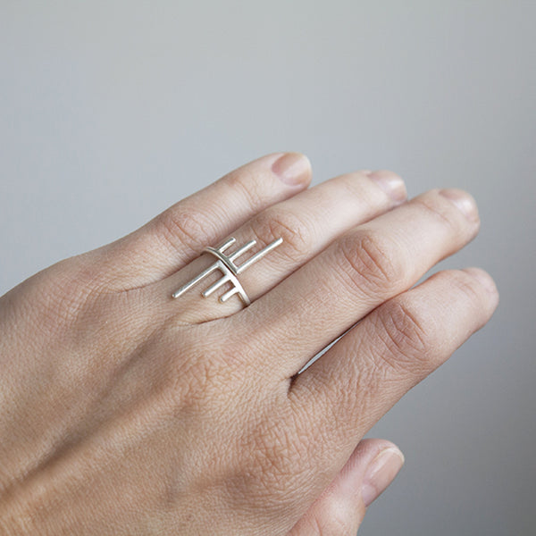 Adjustable Banded Burst Ring