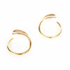 Petite Fin Circle Post Earrings