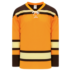 Athletic Knit (AK) H550BK-BOS291BK Pro Series - Knitted Boston Bruins Winter Classic Gold Hockey Jersey