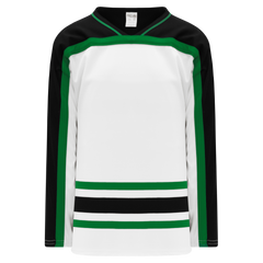 Athletic Knit (AK) H550BK-DAL507BK Pro Series - Knitted Dallas Stars White Hockey Jersey