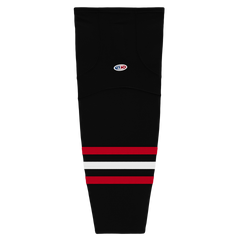 Athletic Knit (AK) HS2100-614 New Chicago Blackhawks Third Black Mesh Cut & Sew Ice Hockey Socks