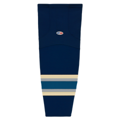Athletic Knit (AK) HS2100-892 2010 Columbus Blue Jackets Third Navy Mesh Cut & Sew Ice Hockey Socks