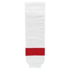 Athletic Knit (AK) HS630 Detroit Red Wings White Knit Ice Hockey Socks