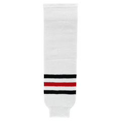 Athletic Knit (AK) HS630-305 Chicago Blackhawks White Knit Ice Hockey Socks