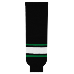 Athletic Knit (AK) HS630-506 Dallas Stars Black Ice Hockey Socks