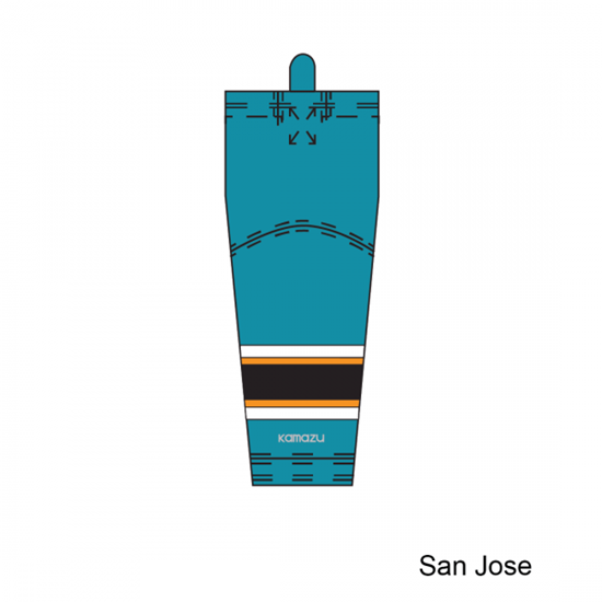 Kamazu FlexxIce Lite SK140 San Jose Sharks Ice Hockey Socks - PSH Sports