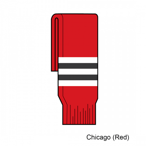 Image of Kamazu FlexxICE SK200 Chicago Blackhawks Team Knit Ice Hockey Socks - Home Red