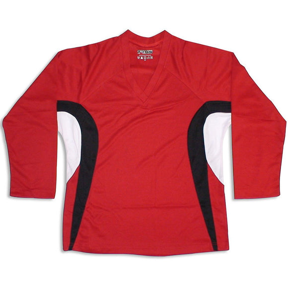Tron DJ200 Red Dry Fit Practice Hockey Jersey - PSH Sports
