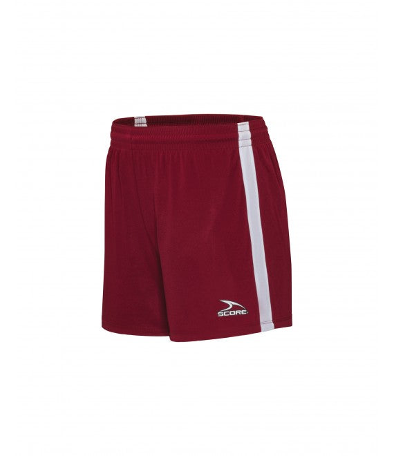 Score Sports Dublin 156A Burgundy/White Women's Shorts