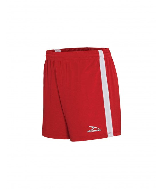 Score Sports Dublin 156A Red/White Women's Shorts