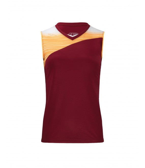 Score Sports Stockholm 251 Burgundy/Gold Ladies Softball Jersey