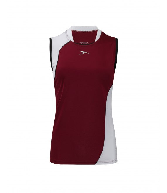 Score Sports Versailles 296 Burgundy/White Ladies Baseball Jersey