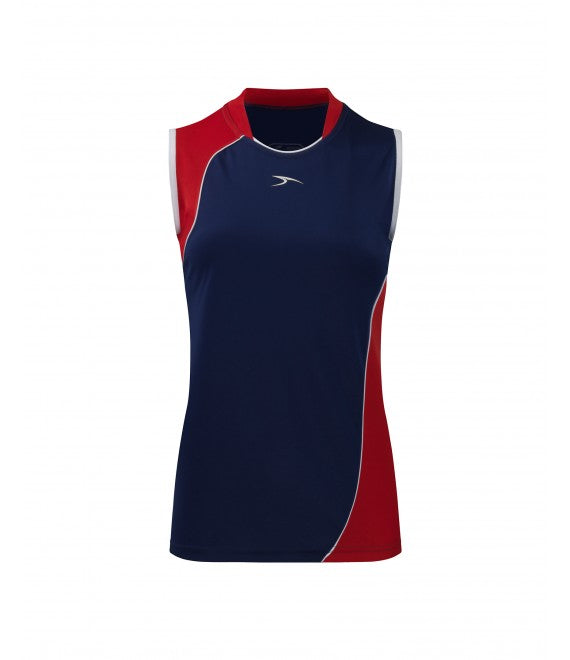 Score Sports Versailles 296 Navy/Red Ladies Baseball Jersey