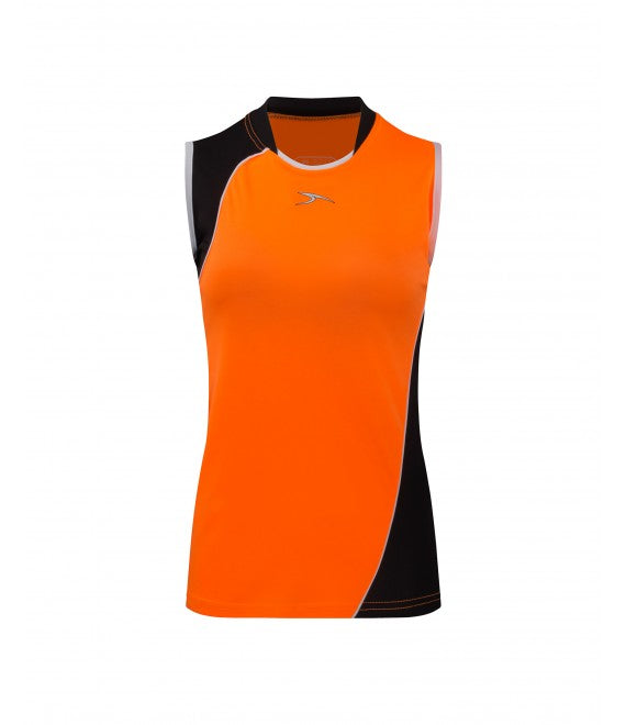 Score Sports Versailles 296 Tangerine/Black Ladies Baseball Jersey