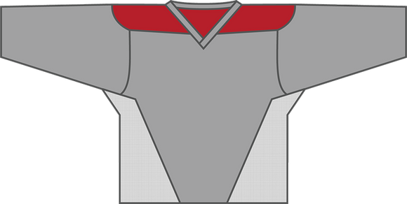 Kobe 3100 Grey/Red/White Lightweight Lacrosse Jersey