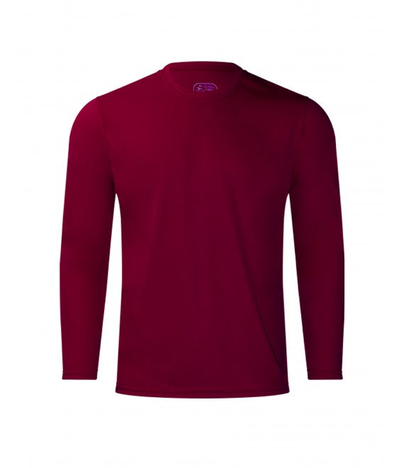 Score Sports 4220L Long Sleeve Burgundy Performance Tee