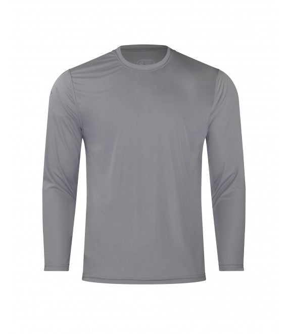 Score Sports 4220L Long Sleeve Silver Performance Tee