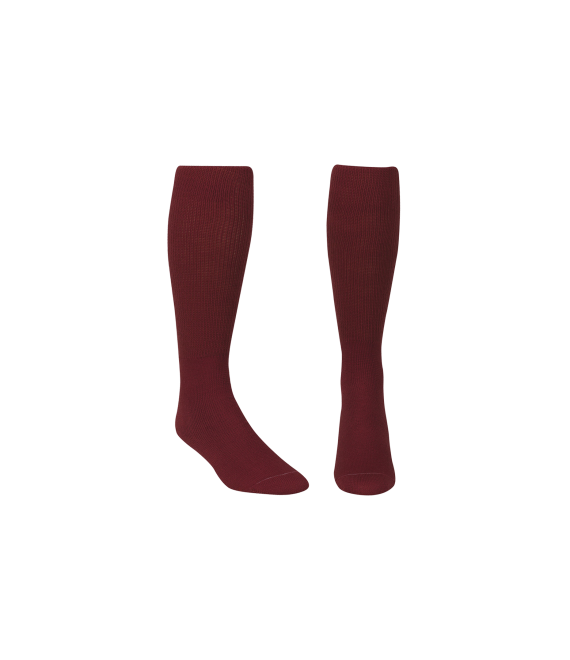Score Sports Solid Burgundy Socks No. 800