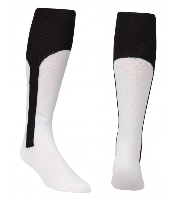 Score Sports White/Black Knit Stirrup No.8110 Baseball Socks