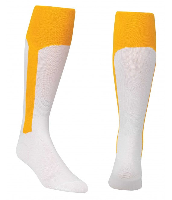 Score Sports White/Gold Knit Stirrup No.8110 Baseball Socks