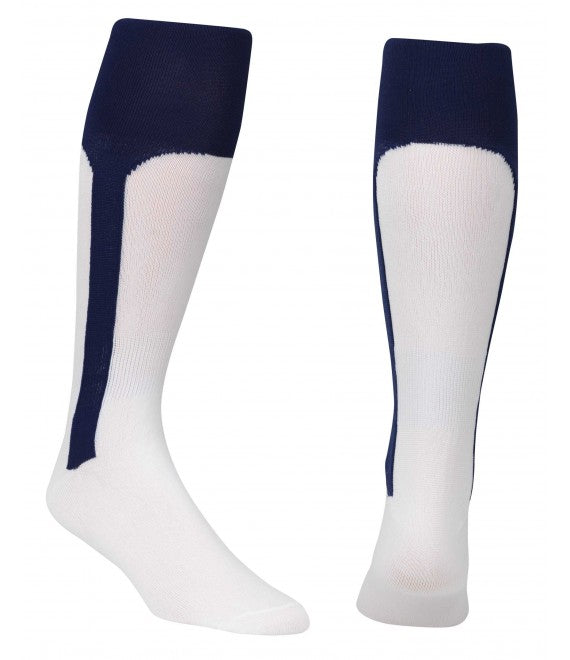 Score Sports White/Navy Knit Stirrup No.8110 Baseball Socks