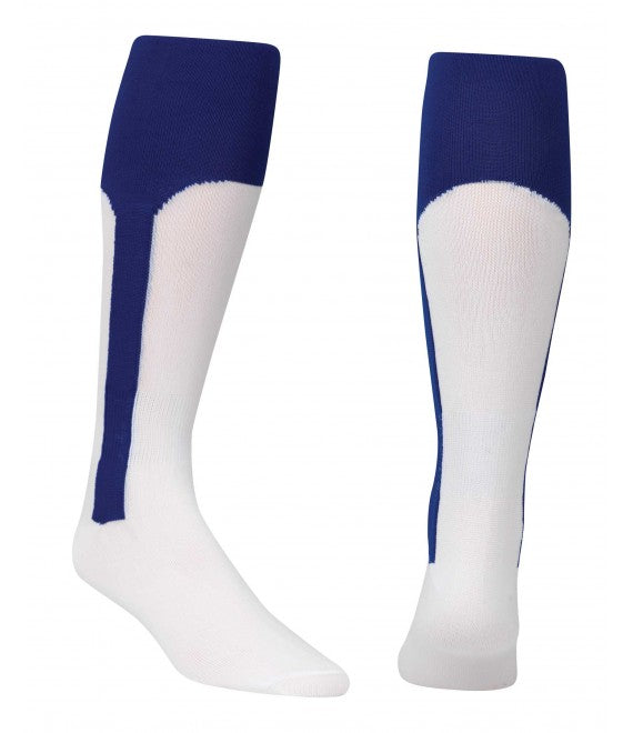 Score Sports White/Royal Blue Knit Stirrup No.8110 Baseball Socks