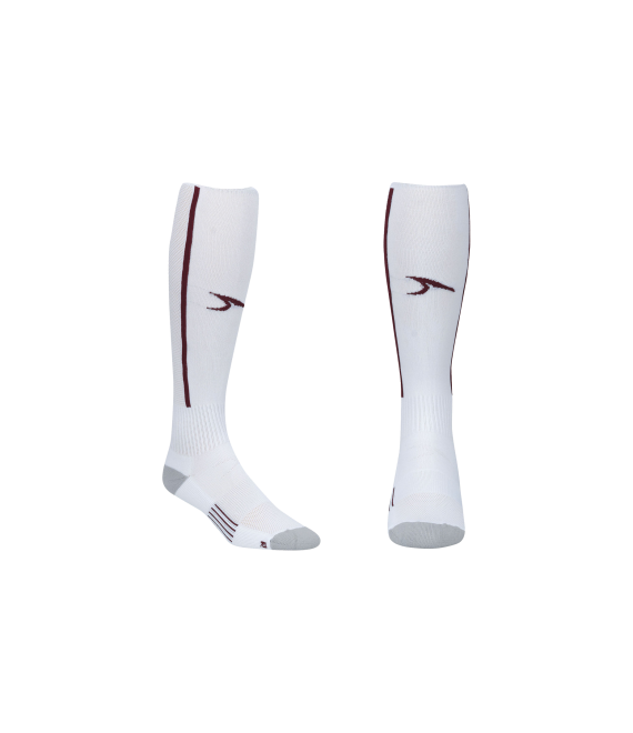 Score Sports Elite 828 White/Burgundy Performance Socks