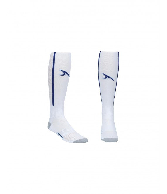 Score Sports Elite 828 White/Royal Blue Performance Socks