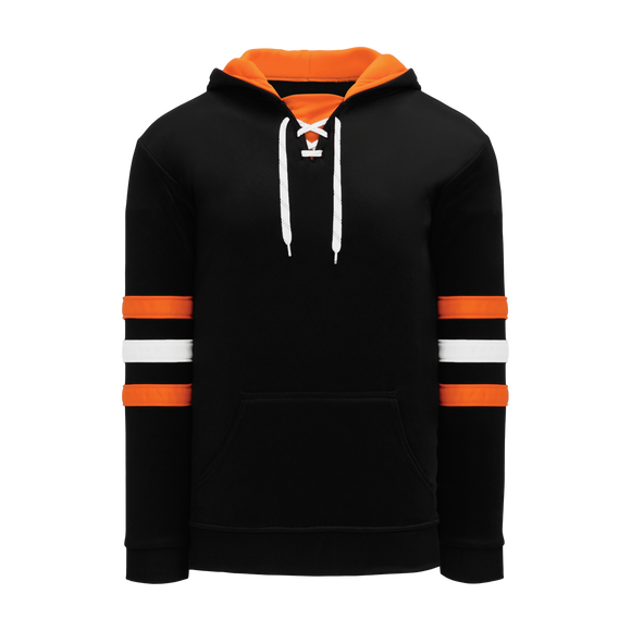 Athletic Knit (AK) A1845-223 Black/Orange/White Apparel Sweatshirt