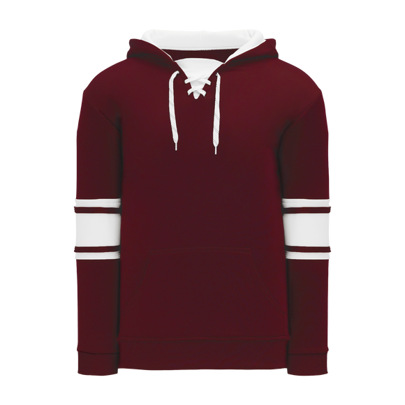 Athletic Knit (AK) A1845 Maroon/White Apparel Sweatshirt