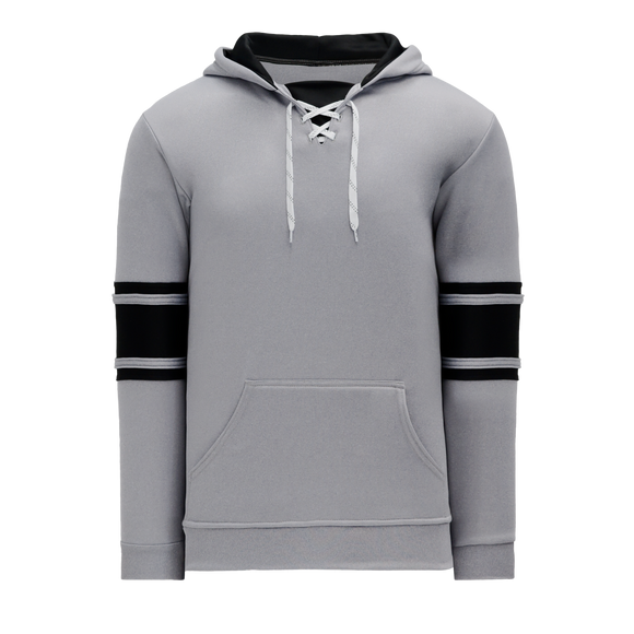 Athletic Knit (AK) A1845 Heather Grey/Black Apparel Sweatshirt